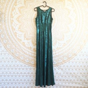 Retro 90s rayon satin brocade dress